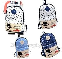 Fashion Women's Mens Canvas Travel Satchel Shoulder Bag Backpack School Rucksack (13109001)