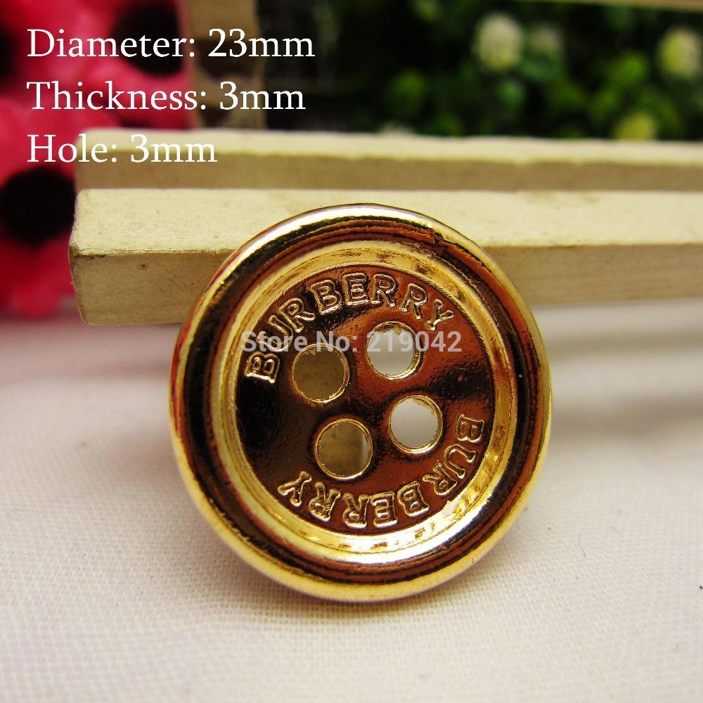 14921 , Hot 50pcs Classic Brand Logo metal buttons handmade diy accessories, garment accessories, DIY accessories materials(China (Mainland))
