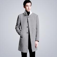 2015 new fashion Men's long trench Korean windbreaker winter long windcoat lapel male high quality overcoat free shipping ML55(China (Mainland))
