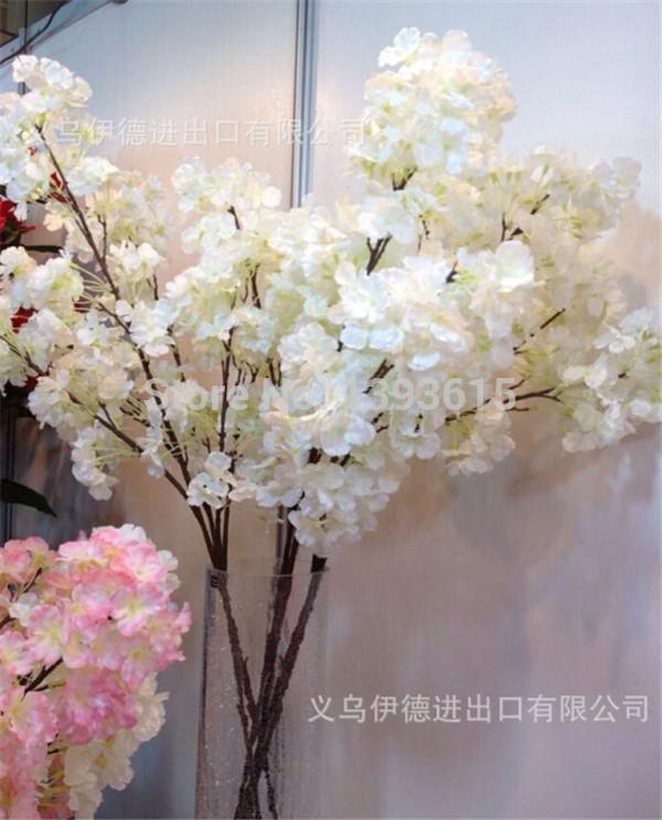 2-color trigeminal cherry floor studio artificial flowers bouquet wedding supplies artificial plants(China (Mainland))