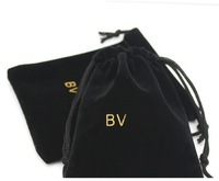 A lot 10 pieces  Black B jewelry little cloth pouches bag for ring and earrings necklace quality packaging free shipping