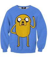 2015 Limited Top Freeshipping Chiffon Full Sudaderas Mujer Foreign of Digital Printing Cartoon Dog Sweater Men Women Selling