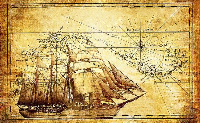 Nautical World Map Wallpaper Nautical Ancient Map Backdrop