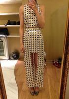 2014 sass&bide vintage geometry bronzier irregular sleeveless top full dress sexy set