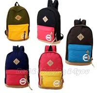 Fashion Unisex Women Men Splice Travel Backpack Canvas Bag School Bag Rucksack (13109006)