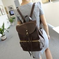PU Leather Vintage Women Casual Backpack Fashion Bolsas Mochilas Femininas Women Preppy School Bags For Teenagers