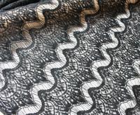 2014120704  Free Shipping  3 color Eyelash lace Nylon cotton Lace Fabric