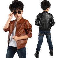 New High Quality Boys Children PU Leather Jacket,Winter Warm Fur Coat For Children Boys,2 Colors,Size 1110cm-160cm,CD508
