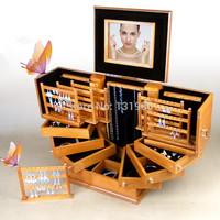 LORIS OEM HOT solid wooden jewelry box huge unique jewelry organizer 4 colors casket jewelry case MS002