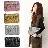 Fashion Gold Sliver Women's Ladies Glitter Sequins Spangle Handbag Party Evening Clutch Bag Wallet Purse