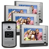 2015 Hot sell 7 inch Color LCD Display Video Door Phone Enter Intercom Doorbell Card Key RFID Reader IR Night Vision Camera 1V4