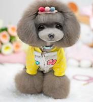 Dog Winter Clothes Jumpsuit Strawberry Design Pet Product Clothing For Dog Cat Super Soft Cotton Padded Dog Coat 1pcs/lot