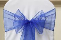 150 pcs Royal Blue #53  Organza Sash For Wedding Event &Party Decoration