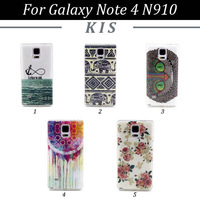 100pcs/lot Flower Anchor Nightingale TPU Gel Case Cover For Samsung Galaxy Note 4 N910, Free Shipping