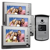 7 inch Color LCD Display Video Door Phone Enter Intercom Doorbell Card Key RFID Reader IR Night Vision Camera 1 Camera 3 Monitor