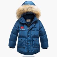 New Children's Boys Thicken Warm Winter Snow Down Coat,White Duck Down Jacket,Winter Overcoat,4 Colors,Size 120cm-140cm,CD1339