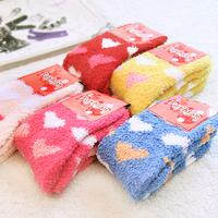 Promotional Winter warm socks Lady 's wool socks women fashion sock coral fleece towel sock
