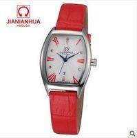 Fashion Women Rhinestone Watches luxury watch brand clock womens dress leather strap watches relogio retro red wristwatch