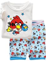T0126 2015 New design 100% Cotton Children's pajamas , Baby short sleeve pajamas,Kids pyjamas boys girls sleepwear baby wear