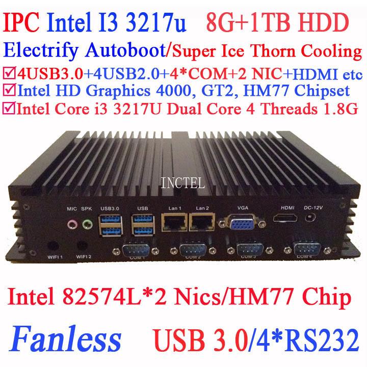 Aluminum fanless mini pc ,desktops computer with Intel i3 3217U 3227U 1.8Ghz CPU for office htpc educational(China (Mainland))