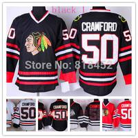 2015 new Chicago Blackhawks ice hockey jersey  #50 Corey Crawford hockey  jersey  Embroidery logo free shipping