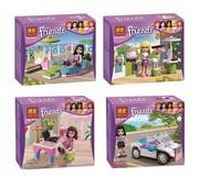 4pcs/lot Bela Friends Girls Building Blocks Model Kit Friends Minifigure Bricks Block Enlighten Train compatible for Christmas