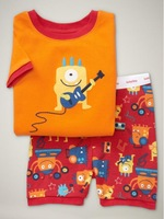T015 2015 New design 100% Cotton Children's wear,Baby short sleeve pajamas,Kids pyjamas boys girls sleepwear set 6set/lot