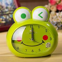 Cartoon alarm clock child voice alarm clock ofhead small clock decoration mute alarm clock