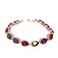new brand design fashion women love bracelet TOP18K golden teardrop CZ Bangle Bracelet 108395
