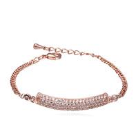 new brand design fashion women golden bracelet TOP18K Corner With Love Zircon Bangle Bracelet 108385