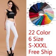 2014 pantaloni formali pantaloni matita colorata pantaloni sexy delle donne di estate pantaloni sottili di trasporto libero 21 colori 7 taglia s - 4xl(China (Mainland))