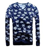 Men Slim V-neck sweater hedging D2 Men's sweaters Maple Leaf DSQ brand cardigans for men, Knitwear