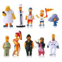 Simpson Family PVC Figure Loose 10 pcs set toy Cartoon & Anime movie