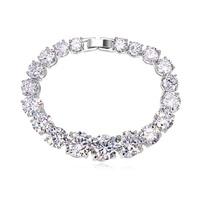 new brand design fashion women golden bracelet TOP18K Rhythm love Zircon Bangle Bracelet 108386