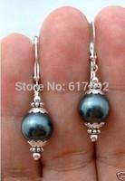 Handmade Beautiful Black shell Pearl Knife Hook Earrings