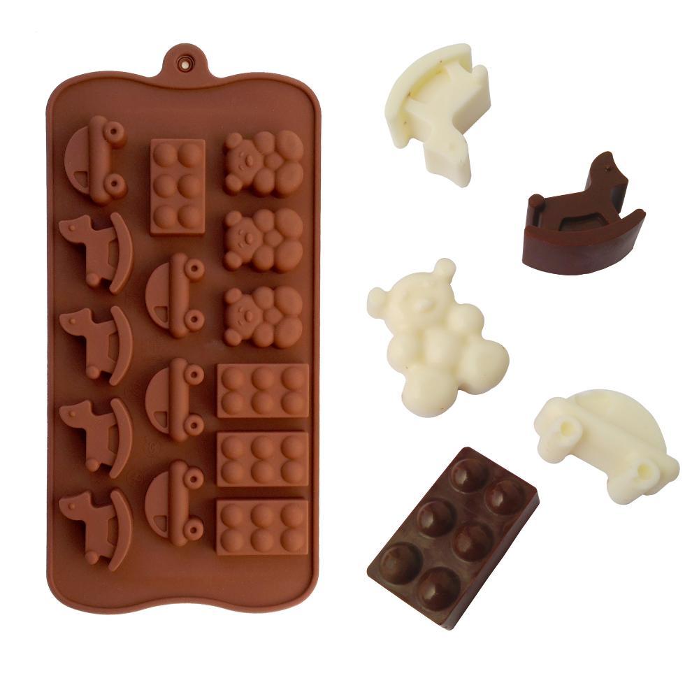 10 pcs o envio gratuito de urso cavalo e carro forma Jelly Sweet Candy Muffin fondant de chocolate bolo de molde de Silicone ferramenta Baking Pan 2547(China (Mainland))
