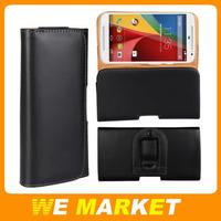 100Pcs/lot Vertical Belt Clip Pouch Case For Motorola MOTO G2 G+1 G 2nd XT1069 XT1068 Packet Case Bag Cover