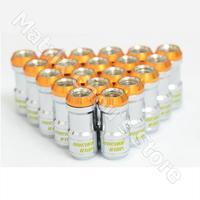 Gold Color, Rays Volk Racing Formula Nuts Set Volk Racing Nuts With Lock Lug Nuts M12 x 1.5 Steel Lug Nuts, MC7386