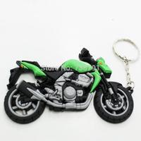 Motorcycles PVC Rubber Keyring Keychain Key rings chain For KAWASAKI Z750 Z1000 Free Shipping