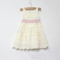 1PC Final Clear Out Cream Beige Cotton Dress,princess Dress Adorable Garden Theme Brand Kids Clothes