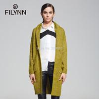 2015 Spring Autumn and winter long-sleeve cardigan sweater medium-long Women  sweater outerwear