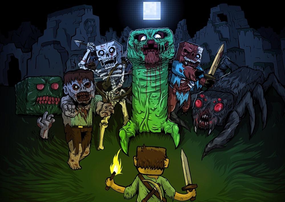 Creepers minecraft wallpaper images creeper minecraft skeleton voltagebd Gallery