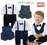 Baby young children's clothing, false straps gentleman ha garment + ma3 jia3 suit climb clothes jumpsuits