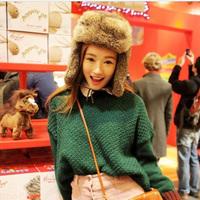 Women Russian Fur hats Luxury mink fur hat winter fur hat stripe toe cap rabbit fur hat  covering cap Factory Price