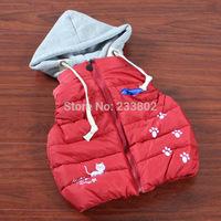 The new winter 2014 children ma3 jia3, private fashion cotton vest, cotton three color ma3 jia3