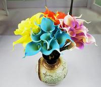 6colors artificial flowers Pu Feel Calla for wedding decoration  home decoration  10 pcs flowers/lot