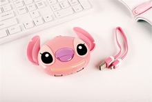 8pcs/lot 10400mAh Cartoon Stitch Power Bank For iPhone6 5 Samsung S5 IOS android smartphones Mobile power charger battery backup