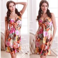 sexy silk nightgown big yard silk female pajamas _S01C