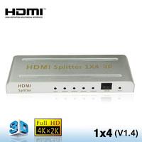 1 in 4 out 4k x2k HDMI Splitter 1x4  HDMI Splitter 1.4