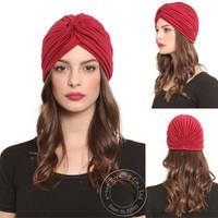 Hot Sale Unisex India Caps Women Turban Hat Skullies Beanies Girls' Knitted Caps Men Hearing Protectors Hats Shower Cap A0405